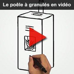 vidéo poêle à granulés pellets