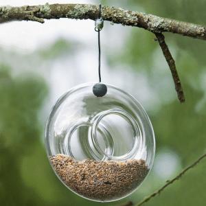 mangeoire verre oiseau