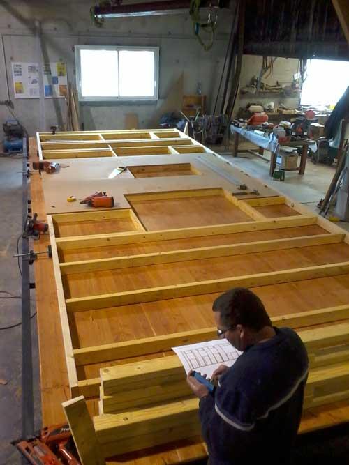 Préfabrication sur-table-en-atelier