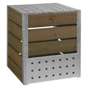 composteur acier bois